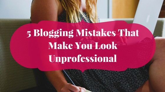 Woman writing on a laptop fixing some blogging mistakes