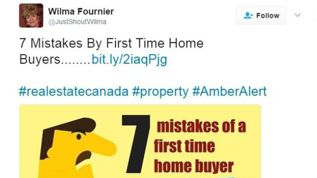 Wilma Fournier - Amber Alert Tweet